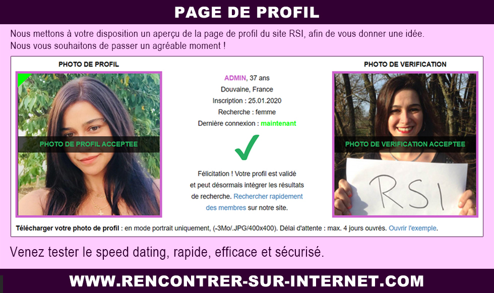 Page de profil : simple et efficace