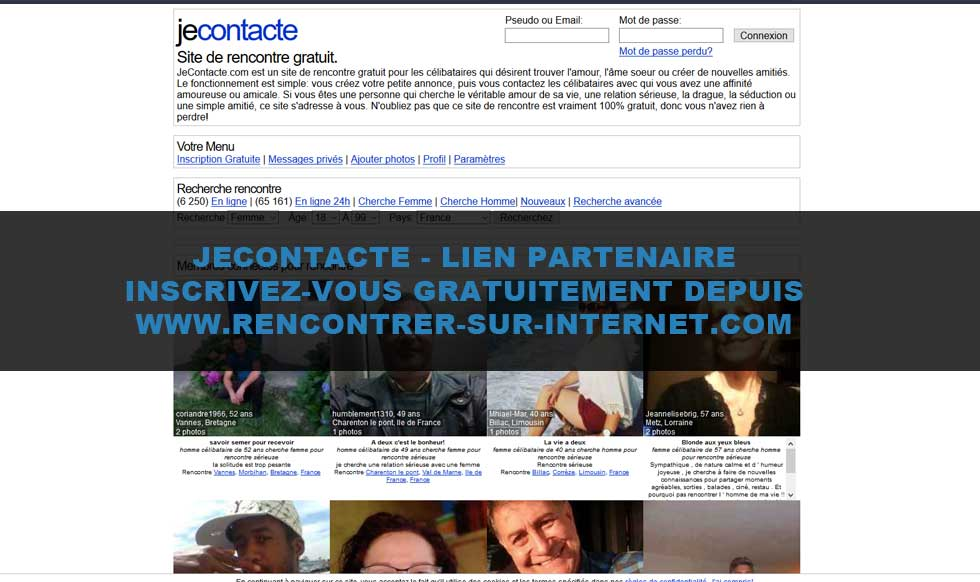 Sites de rencontres je contacte
